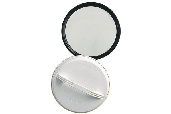 accessoires salon de coiffure miroir avec poign e miroir rond miroir univers noir. Black Bedroom Furniture Sets. Home Design Ideas