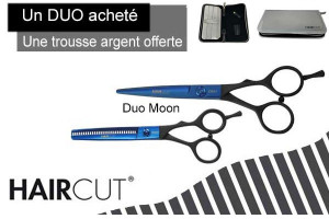 - Duo ciseaux Blue Moon + trousse silver Haircut offerte