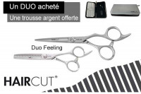 - Duo ciseaux Feeling  + trousse silver Haircut offerte