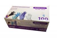 Boite de 100 gants nitril blue sans poudre T. 8-9