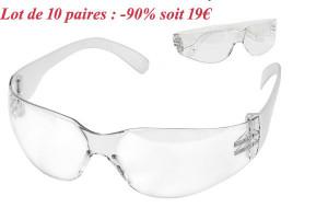 - 90%  Lot de 10 lunettes de protection 7 Element
