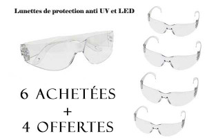 - 65% Lot de 10 lunettes de protection 7 Element