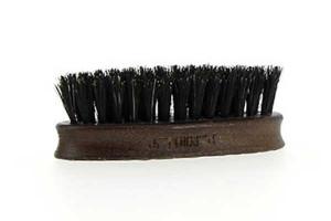 Mini brosse barbe en bois d'hêtre et poils de sanglier