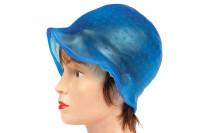Bonnet mèches silicone bleu