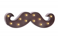 Déco led moustache marron Barber Pro