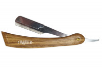 - Rasoir manche en bois naturel avec lame interchangeable O' Barber