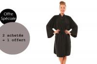 - Lot peignoirs Zen noir 2 achetés + 1 offert