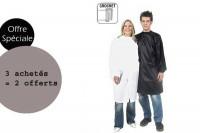 - Lot Peignoir Blanc Politex avec crochet 3 achetés + 2 offerts