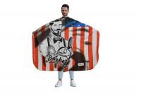 Maxi cape barbier Usa Flag