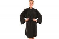 Peignoir de coiffure kimono Zen noir
