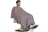 - Peignoir cape Barber bleu blanc rouge