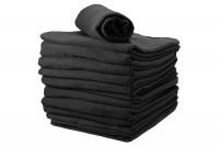 Lot serviettes Chevron noir