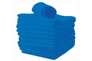 Lot serviettes Chevron bleu