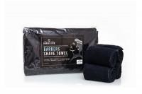 Lot de 4 serviettes noires barbier pour chauffe serviettes