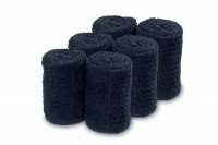 Lot 6 serviettes noires pour chauffe serviette