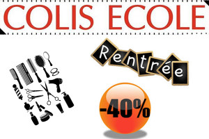 -40% Colis école coiffure rentrée