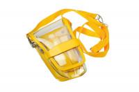 Trousse étui ciseaux cristal jaune