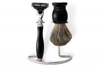 Ensemble de rasage de la maison du barbier noir
