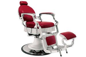 Fauteuil barbier Baron rouge
