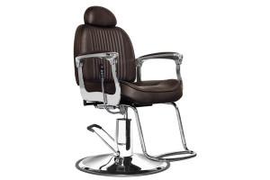 Fauteuil barbier Prenium marron