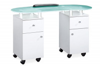 Table manucure professionnelle double