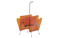 Porte revues double en plexi orange JS