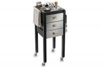 Table de service Eco Barber gris métal Jacques Seban