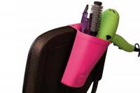 Support séchoir-lisseur silicone noir