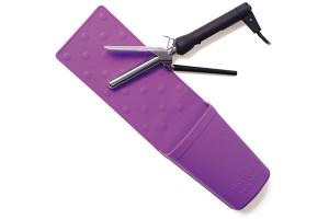 Support séchoir-lisseur silicone violet