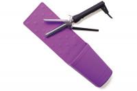 - Support séchoir-lisseur silicone violet