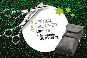 - Ciseaux Left55 + Jump36 offre duo Spécial Gaucher