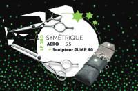 - Ciseaux Aéro55 + Jump40 offre duo les Symétriques