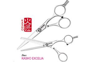 Ciseaux duo Kasho Excelia60 + rasoir et holster