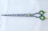 Ciseaux de coiffure d48 Extra GM Green Leopard